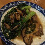 パッカナと椎茸の炒めもの