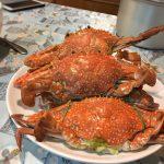 蒸した渡り蟹
