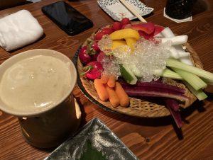 野菜スティックサラダ with バーニャカウダソース